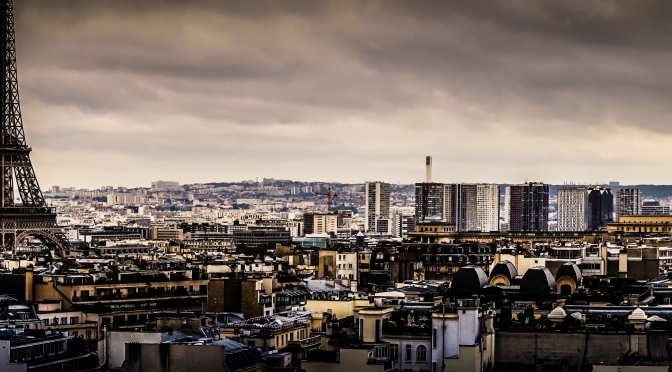 Paris skyline – Eiffel Tower as seen from Arc de Triomphe