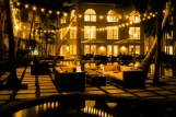 courtyard night scene beach resort marriott