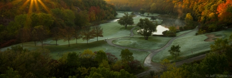 glen abbey golf course at sunrise