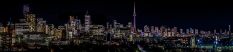 Nightime panorama toronto skyline park hyatt