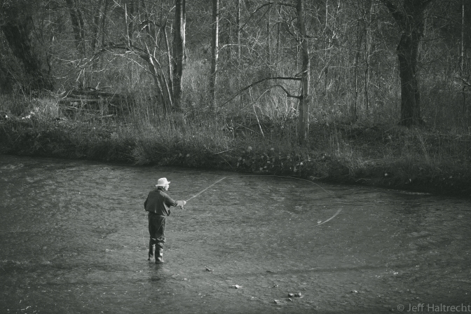Retired Gentleman Fly Fishing Oakville's 16 Mile Creek