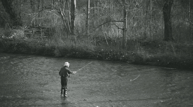 Retired Gentleman Fly Fishing Oakville's 16 Mile Creek