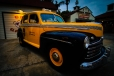 vintage ford yellow and black cab