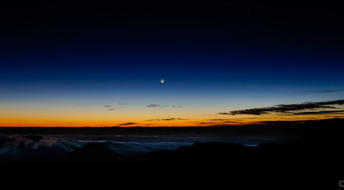 30 Minutes To Sunrise Atop Haleakala Crater At 10,000 Ft.