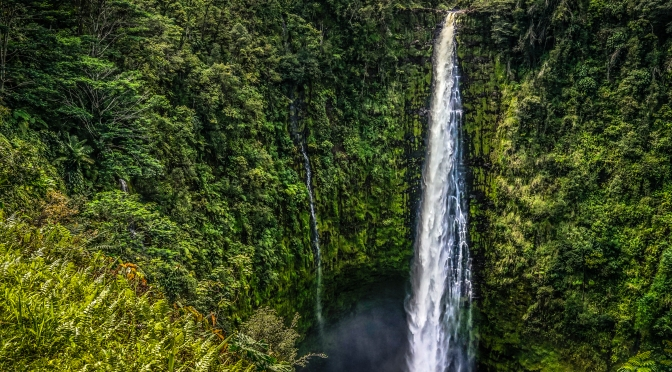 442 Foot Tall & Powerful Akaka Falls, Big Island Hawaii