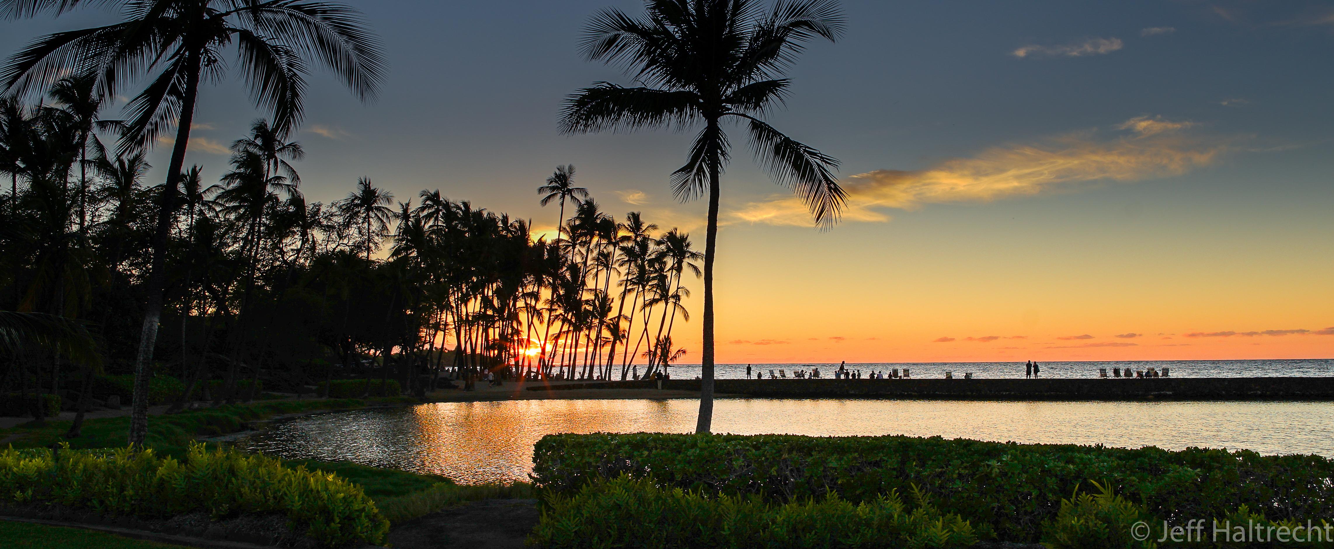 anaehoomalu beach sunset big island hawaii