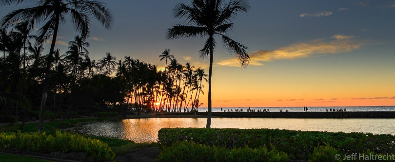 anaehoomalu beach sunset big island hawaii