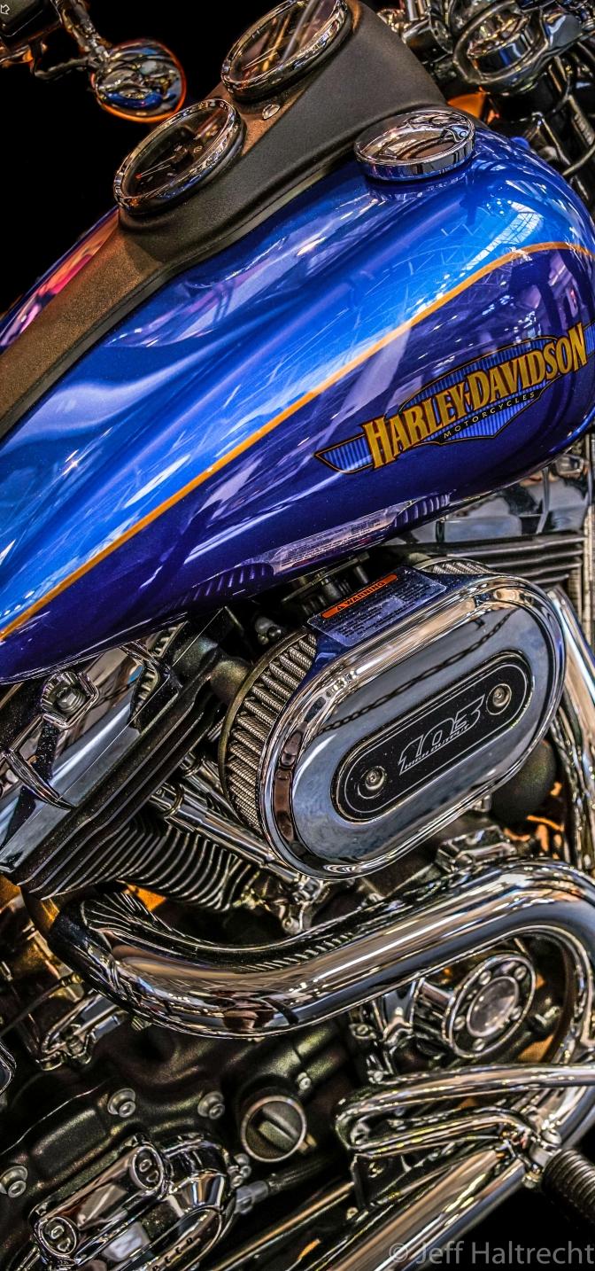 Engineered Art:  Harley Davidson Low Rider in Milwaukee Airport