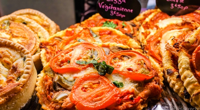 Artisan Hand Made Vegetarian Pizza In the Marais, Paris