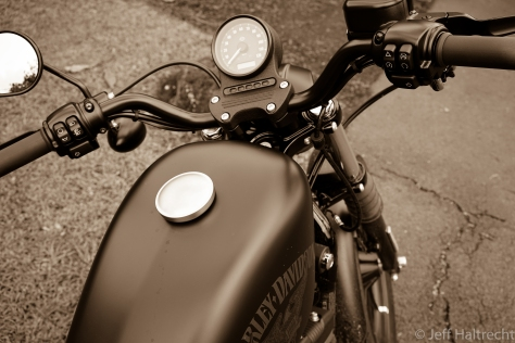 harley davidson iron 883 sportster rider point of view