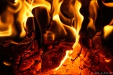 hot fire wood burning stove firewood