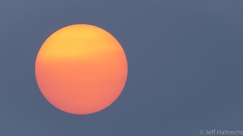 fireball sunset sun
