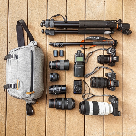 jeff haltrecht photo gear sony alpha peak design vanguard
