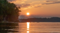 sunset echo lake baysville muskoka weekend