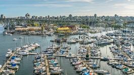 vancouver granville island false creek bridges restaurant boats