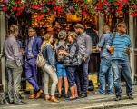 london england sidewalk cafe and pub drinking