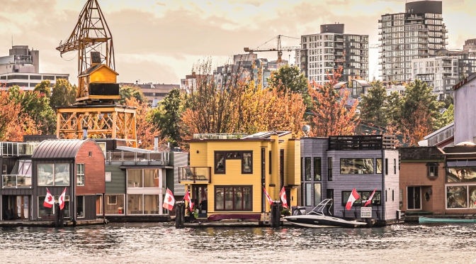 Vancouver Sea Village Featuring Houseboat Homes Along False Creek