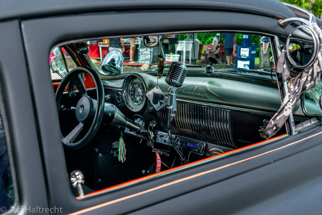 1949 chevrolet deluxe club coupe with 350 engine and psychedelic interior