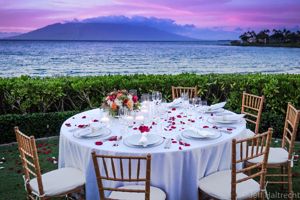 pu'u kukui volcanic mountain maui ocean dinner sunset